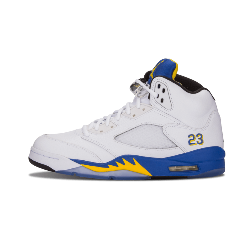 "Air Jordan 5 Retro ""Laney"" White/Varsity Maize-Varsity Royal-Black 136027-189"