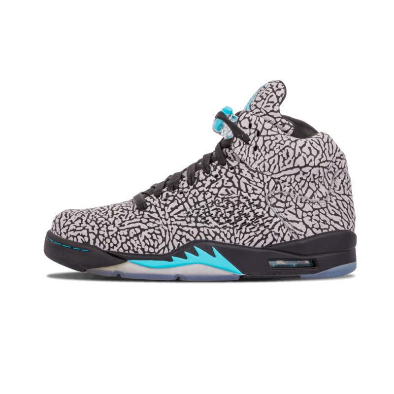 "Air Jordan 5 3Lab5 ""Elephant Print"" Cement Grey/Gamma-Blue-Black 599581-007"