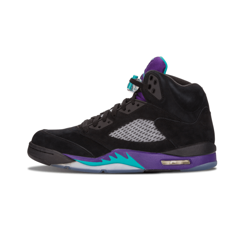"Air Jordan 5 Retro ""Black Grape"" Black/New Emerald-Grape Ice 136027-007"