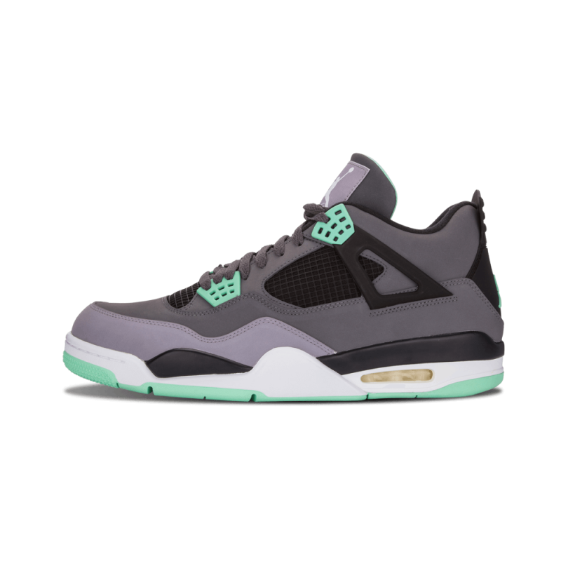 "Air Jordan 4 Retro ""Green GLow"" Dark Grey/Green-Grey-Black 308497-033"
