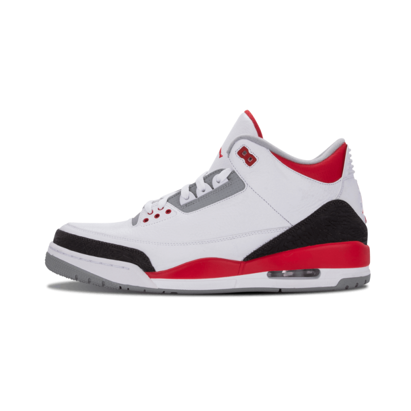 "Air Jordan 3 Retro ""Fire Red"" White/Fire Red-Silver-Black 136064-120"