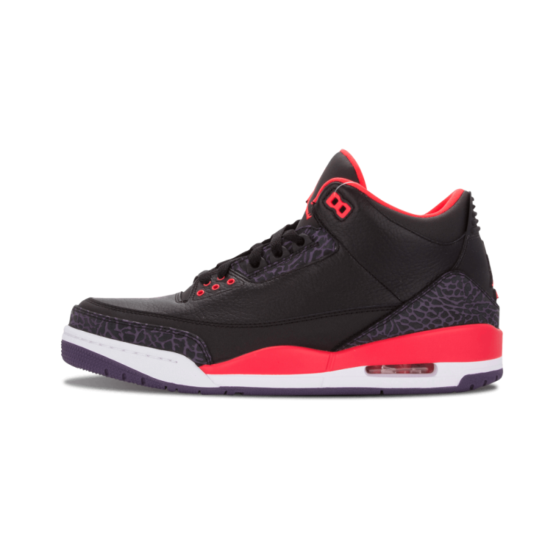 "Air Jordan 3 Retro ""Crimson"" Black/Brght Crmsn-Purple 136064-005"