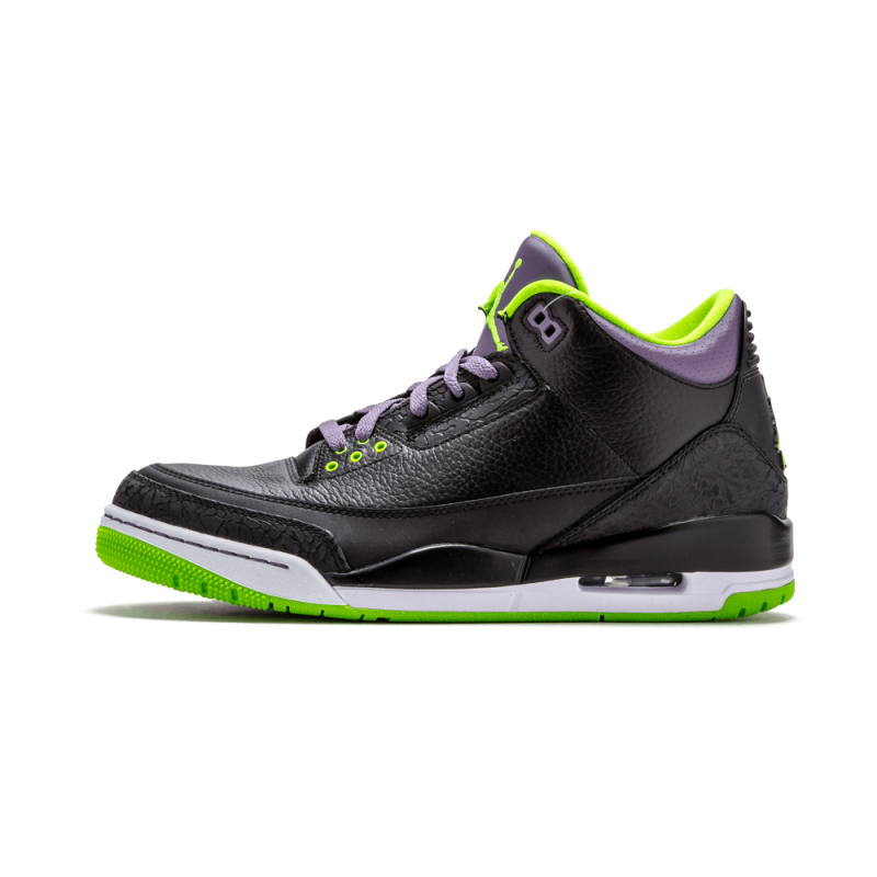 "Air Jordan 3 Retro ""Joker"" Black/Green-Purple-White 136064-018 Cyber Monday"