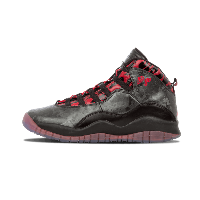 "Air Jordan 10 Retro DB WMNS ""Doernbecher"" Black,Gym Red 641746-060"