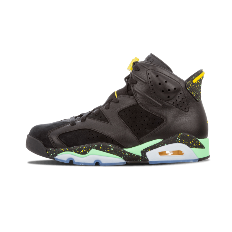 "Air Jordan 6 Retro ""Brazil Pack"" Black/Green-YelLow 688446-020"