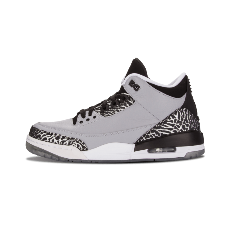 "Air Jordan 3 Retro ""Wolf Grey"" Wolf Grey/Metallic Silver-Black-White 136064-004"