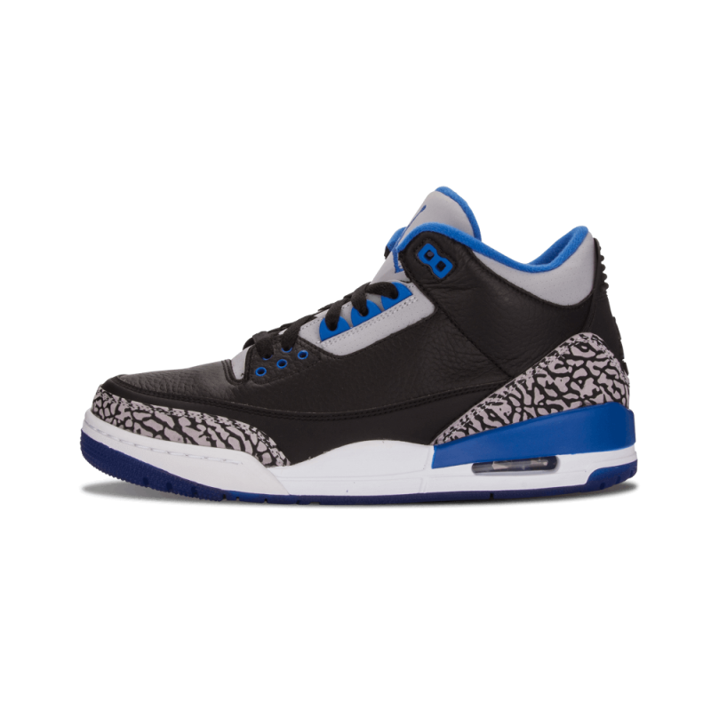 "Air Jordan 3 Retro ""Sport Blue"" Black/Blue/Grey 136064-007 Black Friday"