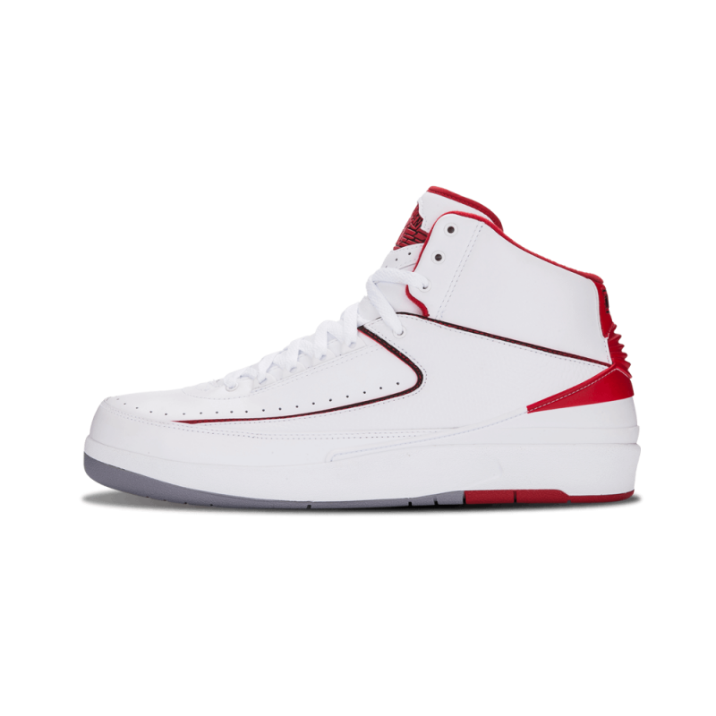 "Air Jordan 2 Retro ""White Varsity"" White/Black-Red-Grey 385475-102"