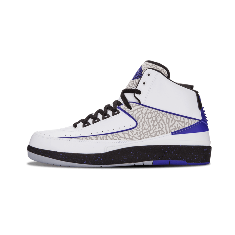 "Air Jordan 2 Retro ""Concord"" White/Dark Concord-Black-Grey 385475-153"