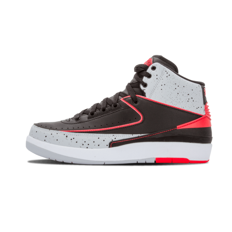 "Air Jordan 2 Retro ""Infrared"" Black,Infrared-Pr Pltnm-White 385475-023"