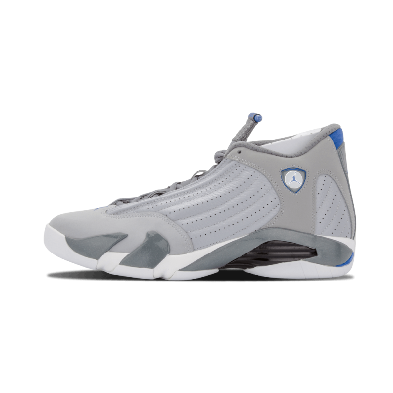 "Air Jordan 14 Retro ""Wolf Grey"" Wolf Grey/SPRT Blue-Grey-White 487471-004"
