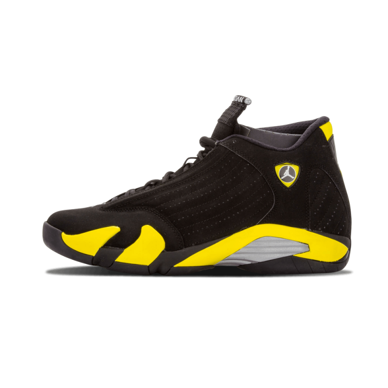 "Cyber Monday Air Jordan 14 Retro ""Thunder"" Black/YelLow-White 487471-070"
