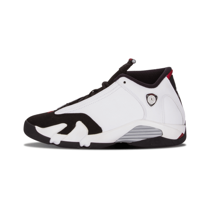 "Air Jordan 14 Retro WMNS ""Black Toe"" White/Black-Red-Metallic Silver 654963-102"