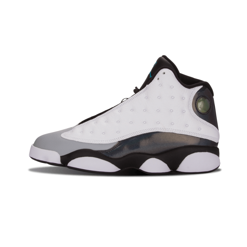 "Air Jordan 13 Retro ""Barons"" White/TRPCL TEAL-Black-Grey 414571-115"