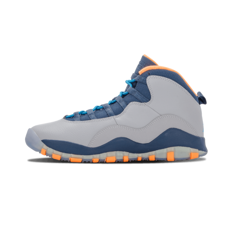 "Air Jordan 10 Retro WMNS ""Bobcats"" Grey/Blue-Nw Slt-Atmc 310806-026"