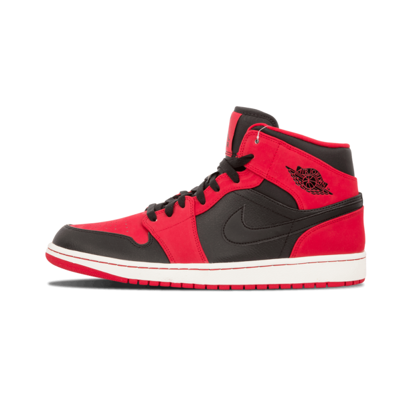 Air Jordan 1 Mid Black/Black-Gym Red 554724-005 Cyber Monday