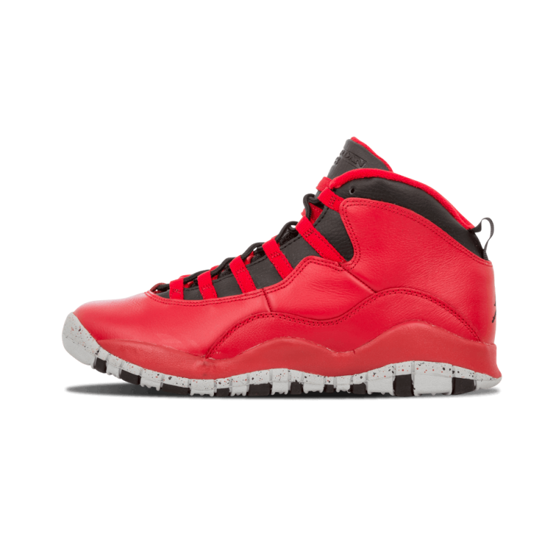 "Air Jordan 10 Retro 30th WMNS ""Bulls Over Broadway"" Gym Red/Black-Wolf Grey 705179-601"