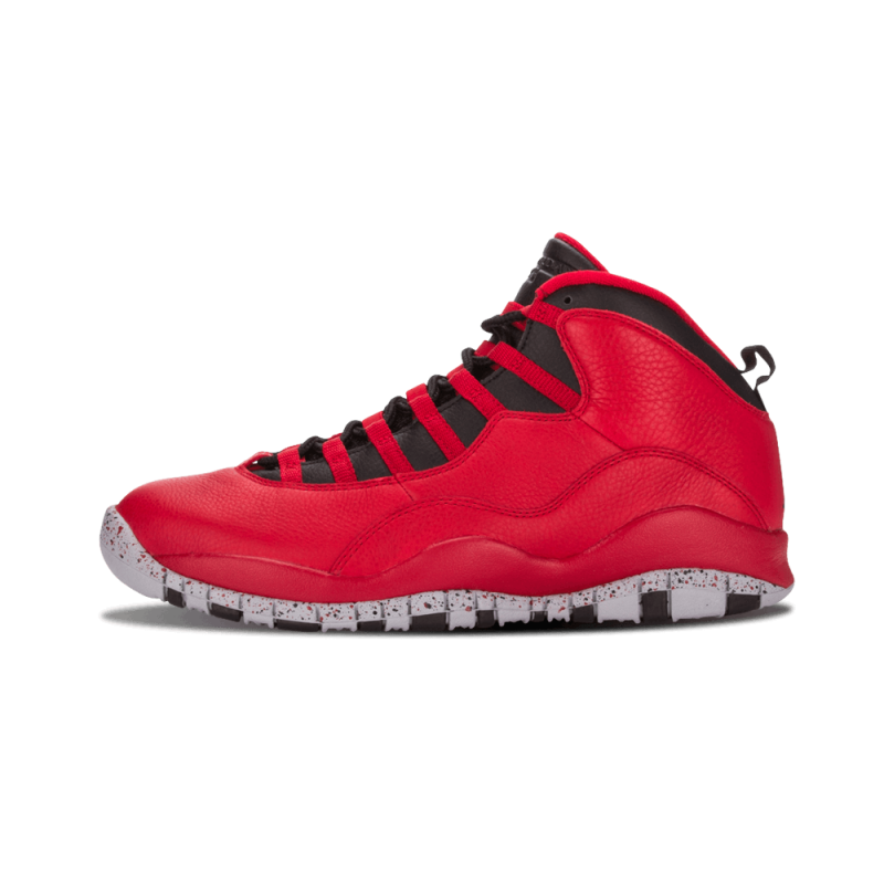 "Air Jordan 10 Retro 30th ""Bulls Over Broadway"" Gym Red/Black-Wolf Grey 705178-601"
