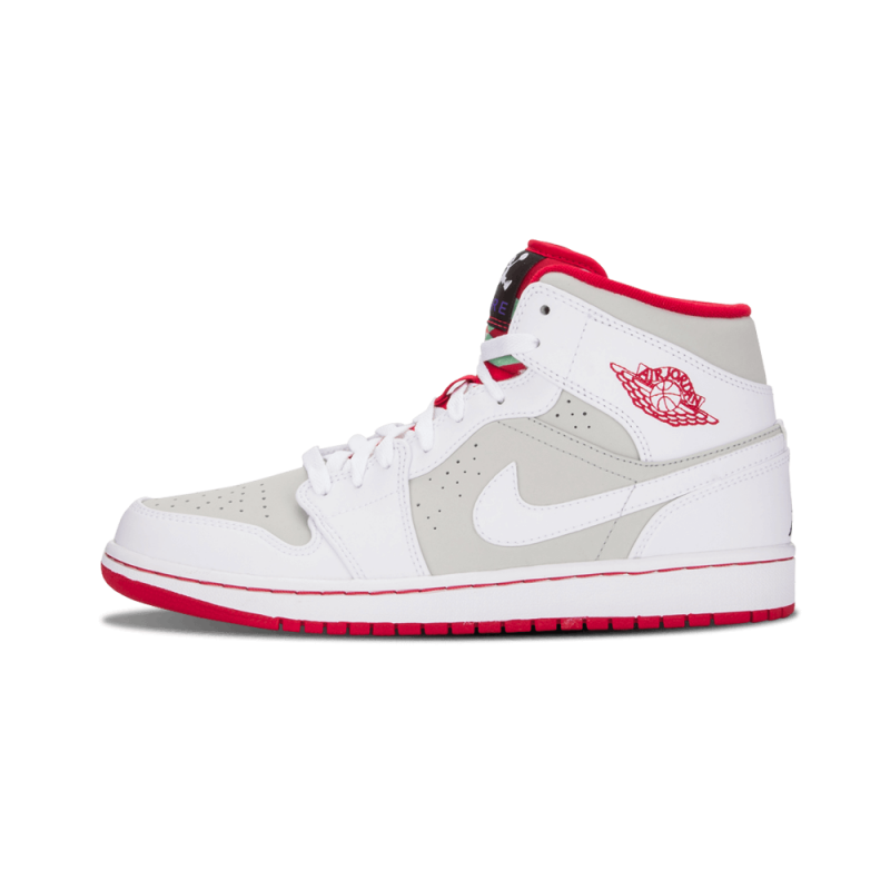 "Air Jordan 1 Mid WB ""Hare"" White/True Red-Silver-Black 719551-123"