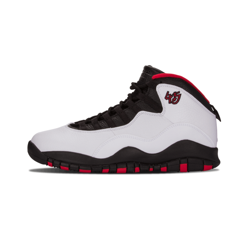 "Air Jordan 10 Retro ""Double Nickel"" White/Black-True Red 310805-102"