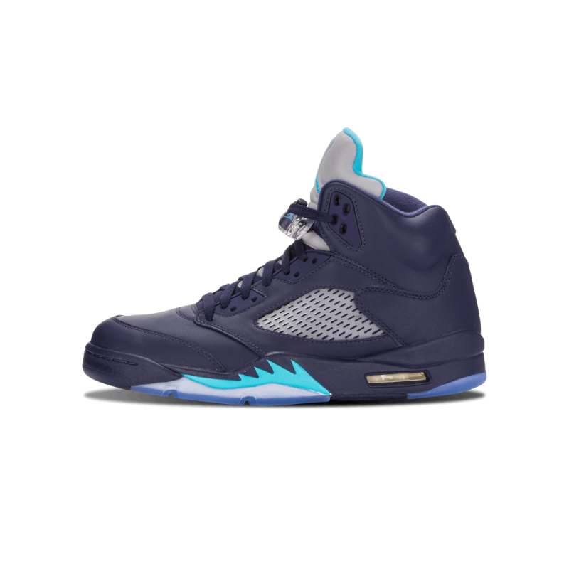 "Air Jordan 5 Retro ""Hornets"" Navy/Trqs Blue-White 136027-405"