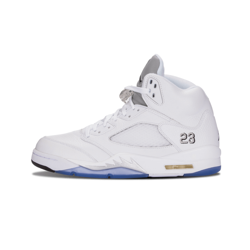 "Air Jordan 5 Retro ""Metallic Silver"" White/Black-Metallic Silver 136027-130"